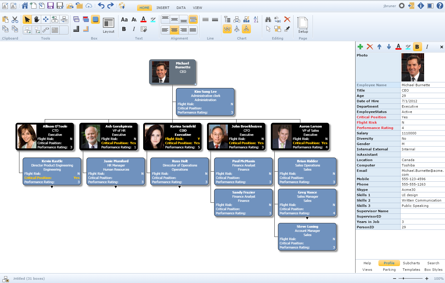 Free org chart software trial